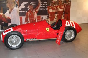 early red racing Ferrari in Ferrari museum, Ferrari Museum, www.theeducationaltourist.com