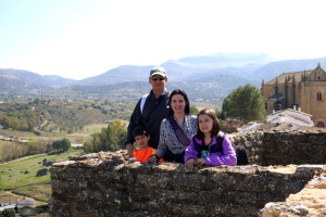 The Educational Tourist family in Ronda, Spain, Plan the Perfect Trip, www.theeducationaltourist.com
