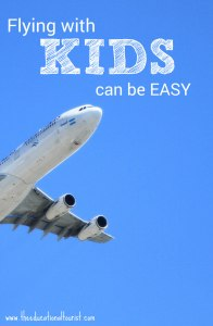 jet in the blue sky, Flying with kids can be easy, www.theeducationaltourist.com