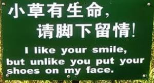 Silly translated sign, Cool Vacation Apps, www.theeducationaltourist.com