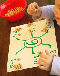 spider math using cheerios Shirley's Preschool Activities, Practice Academic Skills while Traveling, www.theeducationaltourist.com