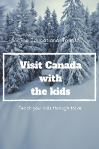 Visit Canada with the kids - snowy scene