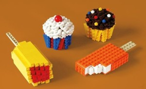 Food Items made from Legos photo from Homeschool Encouragement, Practice Academic Skills while Traveling, www.theeducationaltourist.com