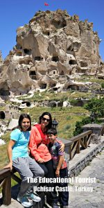 Uchisar Castle near Goreme, Flying with KIDS , www.theeducationaltourist.com