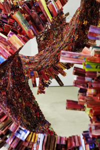 sculpture made from magazines by Yun-Woo Choi photo from It's nice that, Visit Modern Art Museums with KIDS, www.theeducationaltourist.com