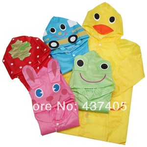 Free-Shipping-Funny-Kids-Child-Children-font-b-Baby-b-font-Cartoon-Raincoat-Auto-Duck-Bunny
