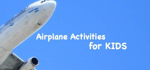 airplane in blue sky, - Airplane Activities for KIDS, www.theeducationaltourist.com