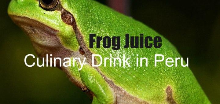 Frog Juice Drink in Peru, www.theeducationaltourist.com