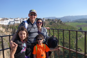 family in ronda, spain, vacations can protect you from heart disease