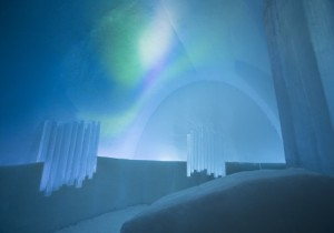 photo from Sweden's Jukkasjarvi ice hotel, unusual hotels with kids