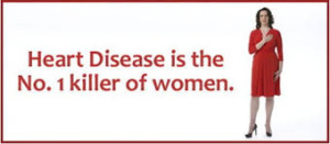 woman with words heart disease is the number one killer of women
