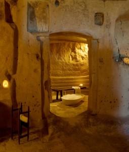 photo from Sextantio, La Grotte Della Civita, unusual hotels with kids, bathroom