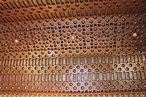 Ornate ceiling from Alcazar in Segovia, Visit Madrid, www.theeducationaltourist.com