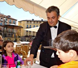 waiter in Segovia, Spain, Visit Madrid, www.theeducationaltourist.com