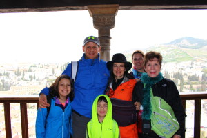 The Educational Tourist and family at Alhambra in Spain, Planning a Family Adventure, www.theeducationaltourist.com