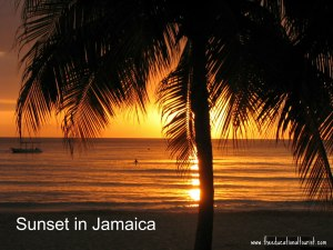 sunset over beach with palm tree, www.theeducationaltourist.com