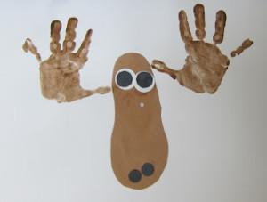 Moose art project handprints