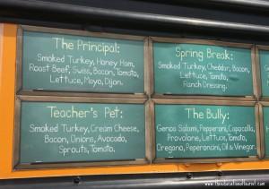 Food truck menu, Austin Visit, www.theeducationaltouristi.com