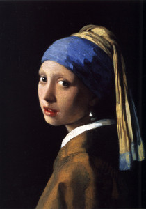 art - Girl with a Pearl Earring, oil on canvas, 1665.