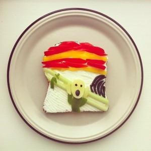 art -The Scream parody toast