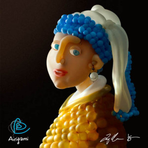 Art - balloon parody of girl with pearl earring