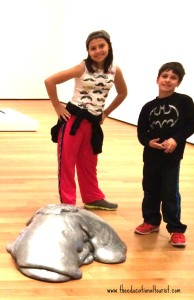 Kids with abstract art