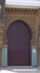 Purple Moroccan door with keyhole arch, Moroccan Doors, www.theeducationaltourist.com