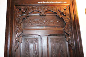 Carved wooded Moroccan Door with arch, Moroccan Doors, www.theeducationaltourist.com