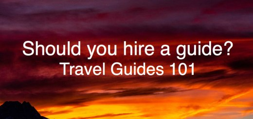 Sunset over the mountains; should you hire a guide? Travel Guides 101, www.theeducationaltourist.com