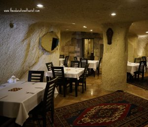 cave dining room Cappadocia Estates, Cappadocia Estates hotel, www.theeducationaltourist.com