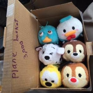 tsum tsum stuffed animals in box, Demi Hugger, www.theeducationaltourist.com
