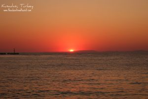 sunset Kusadasi Turkey, www.theeducationaltourist.com