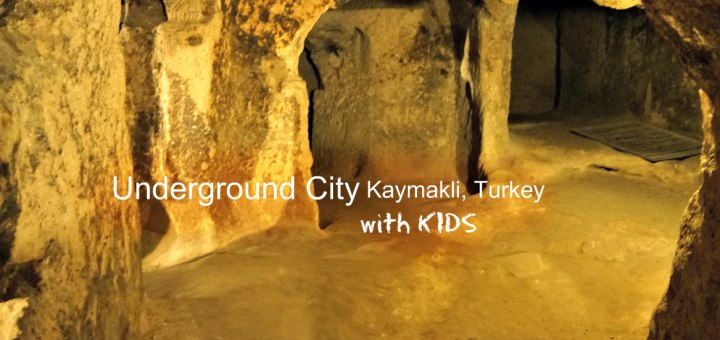 Kaymakli underground city in Turkey with KIDS