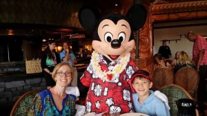 mom and son with Mickey Mouse, Disney Made Easy, www.theeducationaltourist.com
