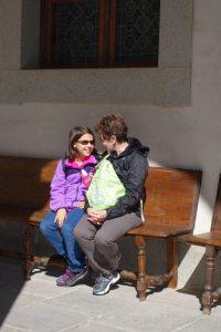 Forget your fear: Quiet moment grandchild grandparent