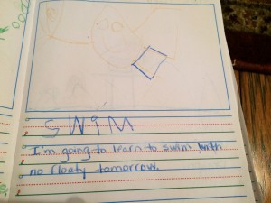 Family Dinner: Child's journal page