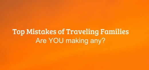 orange background, Top Mistakes of Traveling Families ...are you making any? Www.theeducationaltourist.com