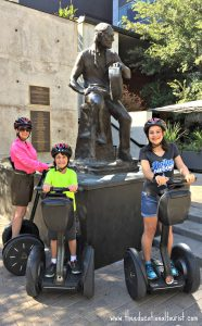 The Educational Tourist in Austin riding a segway with children, Travel outside your comfort zone, www.theeducationaltourist.com