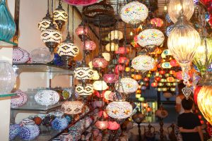 Turkey Photo Essay colorful lamps in Istanbul