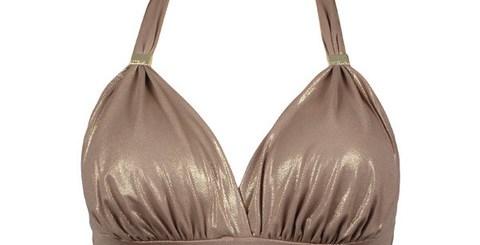 sorella swim gold bikini top