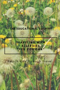 wishing flowers, travel with allergies