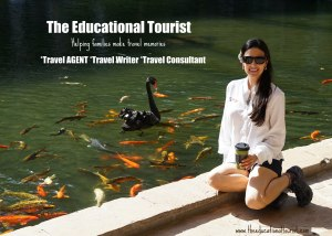 The Educational Tourist near koi pond, Flowers of Hawaii, www.theeducationaltourist.com