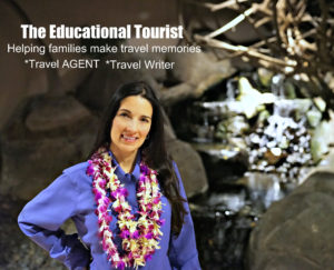 The Educational Tourist with lei, Hawaii, the BIG island, www.theeducationaltourist.com