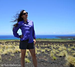 The Educational Tourist windy hair, Hawaii, the BIG island, www.theeducationaltourist.com