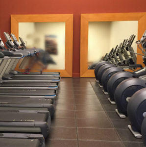 treadmills in exercise room, Hilton Waikaloa Village, www.theeducationaltourist.com