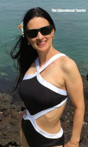 The Educational Tourist swimsuit, Hilton Waikaloa Village, www.theeducationaltourist.com