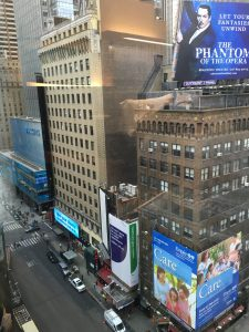 View from room in Renaissance hotel Times Square NYC, Renaissance Hotel Times Square New York, www.theeducationaltourist.com