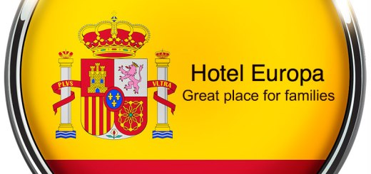 Button with likeness of Spanish Flag, Hotel Europa, www.theeducationaltourist.com