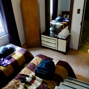 hotel room with twin beds, www.theeducationaltourist.com
