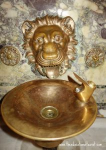 Lion on water fountain in New York Public Library, New York Public Library Visit, www.theeducationaltourist.com